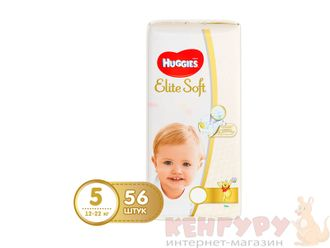 Подгузники Huggies Elite Soft 5 (12-22 кг) 56 шт.