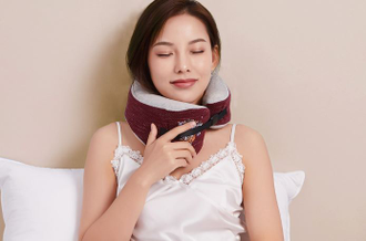 Подушка для шеи Xiaomi Mercury simple color travel series neck pillow синяя