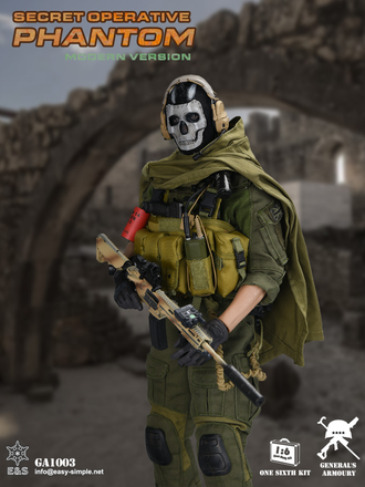 "Саймон ""Гоуст"" Райли (Призрак, Ghost, Call of Duty Modern Warfare 2019) КОЛЛЕКЦИОННАЯ ФИГУРКА 1/6 scale Special Operative Phantom (GA1003) - Easy&Simple"