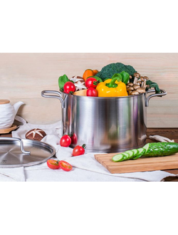 Кастрюля Xiaomi Zhiwu boiled stainless steel stockpot silver white 5L