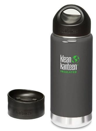 Термобутылка Klean Kanteen Insulated Wide 16oz (473 мл) Albatross Gray, 2 крышки