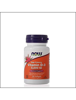 Витамин D3 Now Vitamin D-3 5000iu 120 Tab