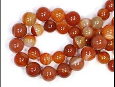Бусины Сердолик (Агат сердоликовый), шар 8,5 мм, цена за 1 нить около 38 см, 48 шт (вес: 36 г) №19589