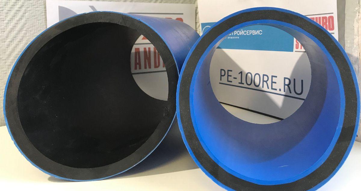 Двухслойная ПНД труба ПЭ100 и PE100-RC трехслойная ПНД труба