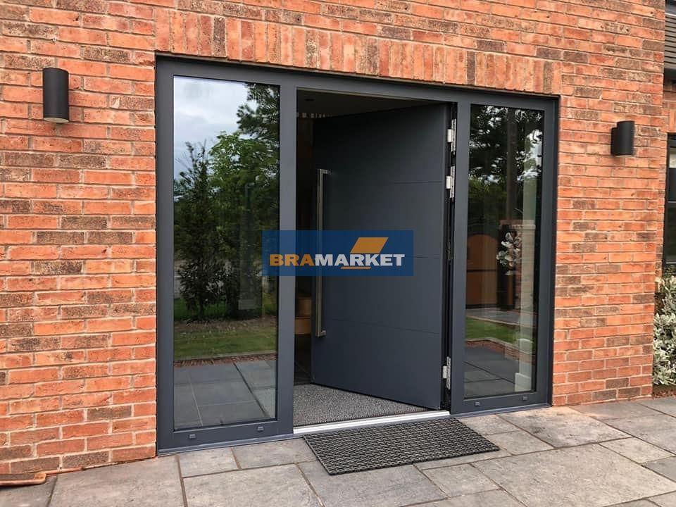 цена двери для дома - красивые уличные двери с доводчиком - магнитным порогом - терморасширением