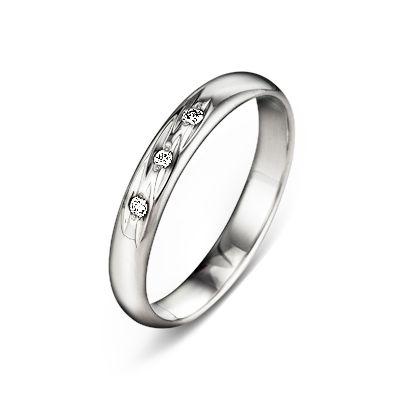 83c5f3cadeef Классическое обручальное кольцо из белого золота с бриллиантами 7-0234 б
