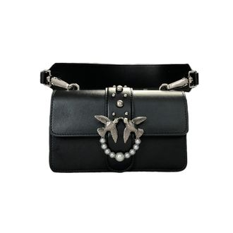 PINKO LOVE MINI BAG BLACK PEARL