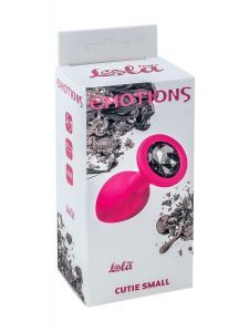 АНАЛЬНАЯ ПРОБКА EMOTIONS CUTIE SMALL PINK BLACK CRYSTAL 4011-02LOLA