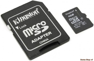 Флеш MicroSD Kingston Class 10 4 GB
