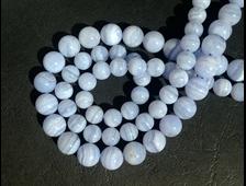 Бусина Агат голубой, шар 10 мм (1 шт) №14252