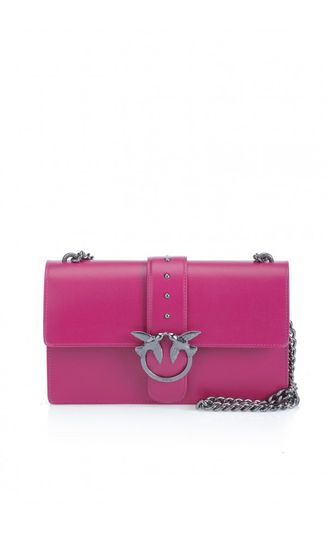 PINKO NAPPA LEATHER LOVE BAG PINK FUCHSIA