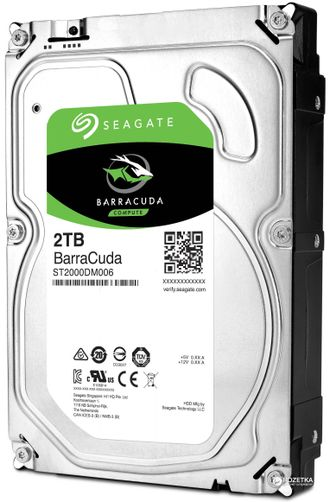 "HDD 2Tb Seagate BARRACUDA SATA6Gb/s 7200rpm 64Mb 3,5"" ST2000DM006"