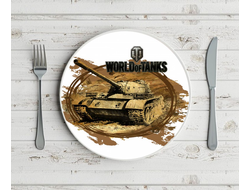 Тарелки WORLD OF TANKS МИР ТАНКОВ