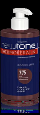 Тонирующая маска для волос NEWTONE 7/75, русый коричнево-красный