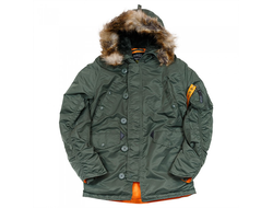 Куртка Аляска N3B HUSKY II SAGE GREEN ORANGE