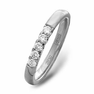 Обручальное Кольцо белое золото 5 бриллиантов - Купить в интернет ... 96649022716