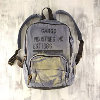 "Рюкзак Old Cotton Cargo ""Basic komor bag brand"" светлый деним"