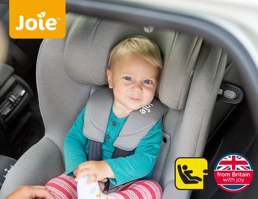 Joie i-Spin 360 — современное поворотное автокресло для детей от рождения до 5 лет (19 кг)