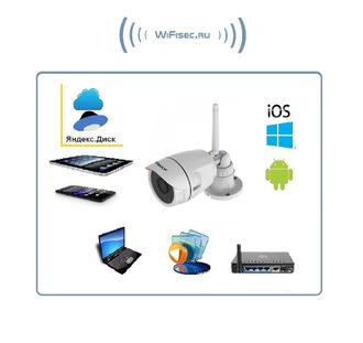 VStarcam. Уличная IP WiFi/LAN видеокамера с DVR, Full HD (до - 25) (Я-диск)