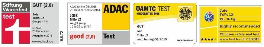 Joie Trillo LX isofix автокресла получила оценку «хорошо» по результатам краш-тестов ADAC