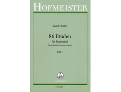 Hrabe, Joseph 86 Etuden Band 1 (Nr.1-44) : for Double-bass