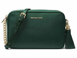 Клатч Michael Kors Ginny Medium Leather Crossbody зеленый