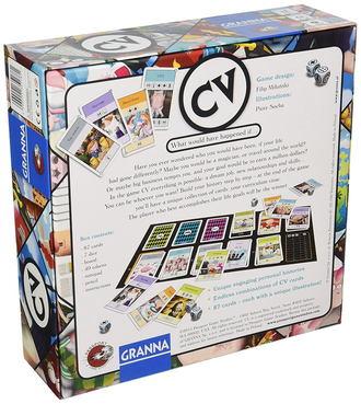 CV Card Game (a game of building caracters)