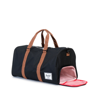 Herschel Novel Duffle Black/Tan Synthetic Leather