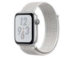 Apple Watch Series 4 44mm Aluminum Case with Nike Sport Loop (Silver/Summit White)