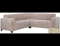 Чехол Велсофт на угловой диван, цвет Кремовый