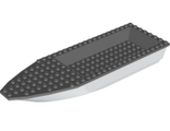 Boat, Hull Unitary 28 x 8 Base with Dark Bluish Gray Boat Hull Unitary 28 x 8 Top 92710 / 92711, White (92710c01 / 4609736 / 6173264)