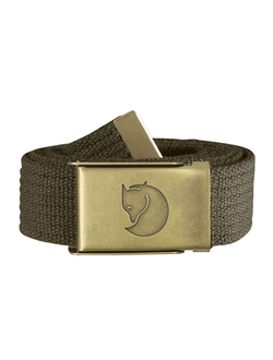 Fjallraven Canvas Brass Belt 3 cm Dark Olive