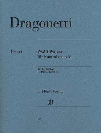 Dragonetti Twelve Waltzes for Double Bass Solo