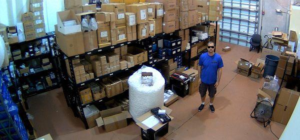 Установка видеонаблюдения на складе
