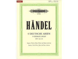 Handel 9 Deutsche Arien HWV 202-210 for soprano, violine and piano
