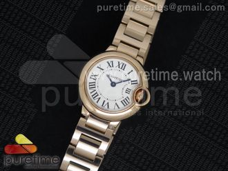 Ballon Bleu 28mm Ladies RG White Dial on RG Bracelet