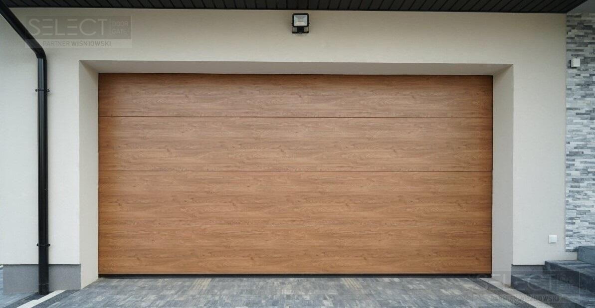 гаражные секционные ворота для частного дома - теплые подъемные системы из сендвич панели