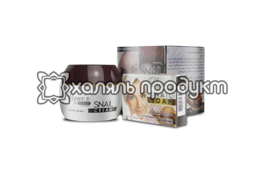 Крем для лица Омолаживающий с экстрактом улитки 80г + мыло с экстрактом улитки 30г