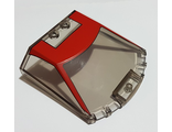Windscreen 6 x 6 x 1 1/3 with Red Ferrari F8 Tributo Pattern, Trans-Black (65633pb01 / 6289404)