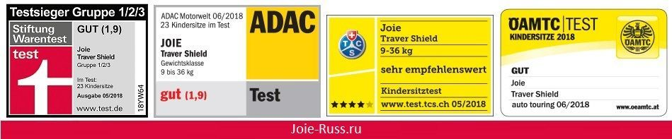 оценку ADAC «хорошо» Joie Trillo Shield Автокресло