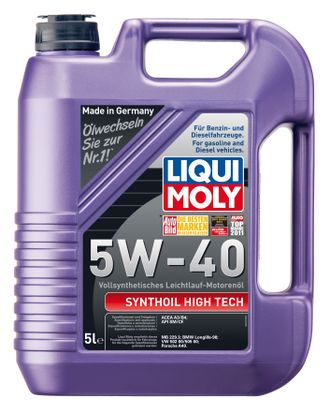 Моторное масло LIQUI MOLY SYNTHOIL HIGH TECH 5W-40 5л