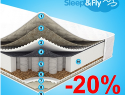 Матрас Sleep&Fly Daily 2в1