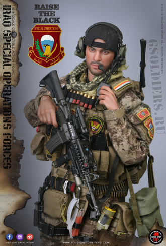 "КОЛЛЕКЦИОННАЯ ФИГУРКА 1/6 Iraq Special Operations Forces ""ISOF"" - SAW GUNNER (SS107) - SoldierStory"