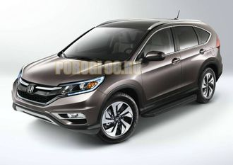 Пороги на Honda CR-V (2012-2017) Black