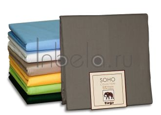 Простыня сатиновая TANGO SOHO collection 240*260 серая BS2426-14