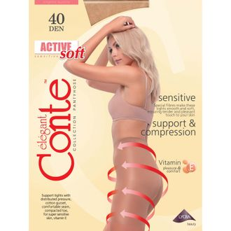 Conte™ Active Soft 40 den 5=XL (Natural)