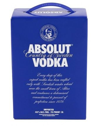 Водка Абсолют Электрик 3л ( Absolut Electrik 3L) 40%