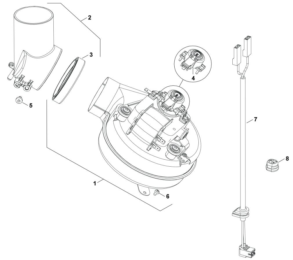 Вентилятор двухконтурных газовых котлов Бош Будерус 18 кВт