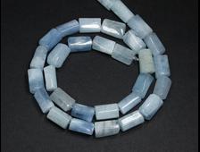 Бусины Берилл голубой (аквамарин), Бразилия, цилиндрик 11*7 мм (1 шт) №20292