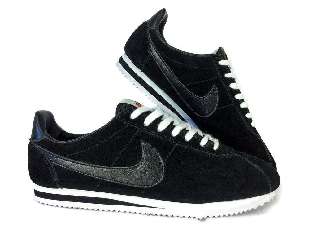 112ed030 Ультрамодные кроссовки Nike cortez черные, замша в наличии в интернет- магазине Blackshop59 в Перми